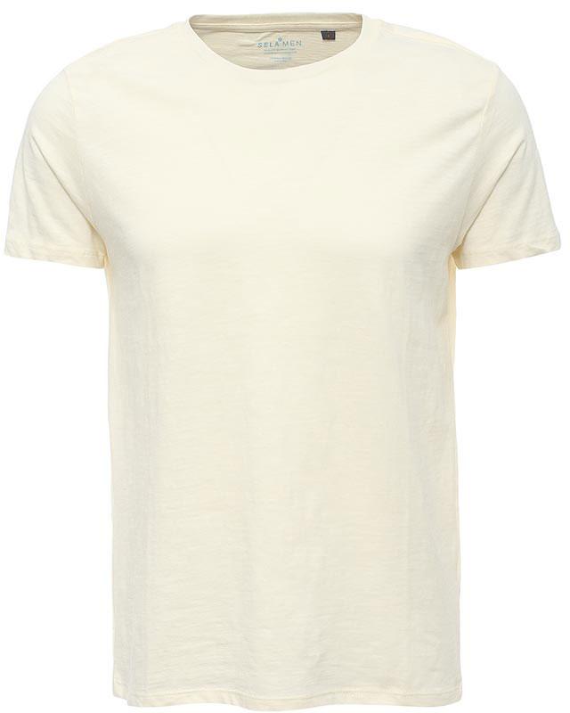 Футболка мужская Sela, цвет: серовато-янтарный. Ts-211/1130-7223. Размер XS (44)Ts-211/1130-7223Стильная мужская футболка полуприлегающего силуэта Sela изготовлена из однотонного натурального хлопка. Воротник дополнен мягкой трикотажной резинкой. Универсальный цвет позволяет сочетать модель с любой одеждой.