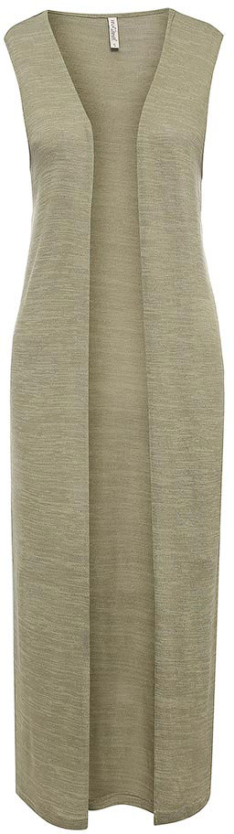 Жилет женский Sela, цвет: оливковый. Vk-116/122-7244. Размер XL (50)Vk-116/122-7244Стильный женский жилет Sela выполнен из качественного трикотажа мелкой вязки. Длинная модель прямого кроя с разрезами по бокам подойдет для прогулок и дружеских встреч и будет отлично сочетаться с джинсами и брюками, а также гармонично смотреться с юбками. Мягкая ткань на основе полиэстера, вискозы и эластана комфортна и приятна на ощупь.