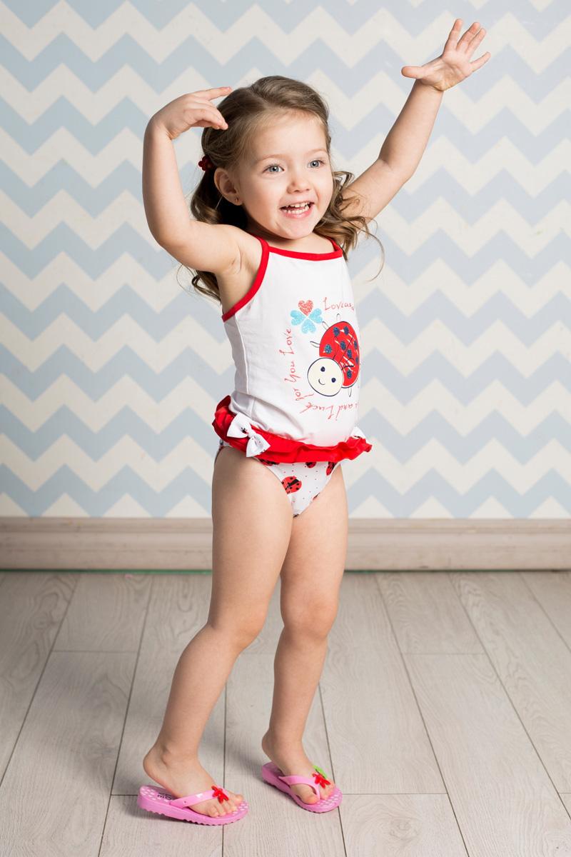 Плавки для девочки Sweet Berry, цвет: красный, белый. 712046. Размер 98712046Плавки для девочки Sweet Berry изготовлены из нейлона с добавлением эластана и оформлены ярким принтом, рюшами и декоративными бантиками. Пояс плавок на мягкой эластичной резинке не сдавливает живот ребенка и надежно фиксирует изделие на талии. Модель комфортна в носке, быстро сохнет и сохраняет первоначальный вид и форму при длительном использовании.