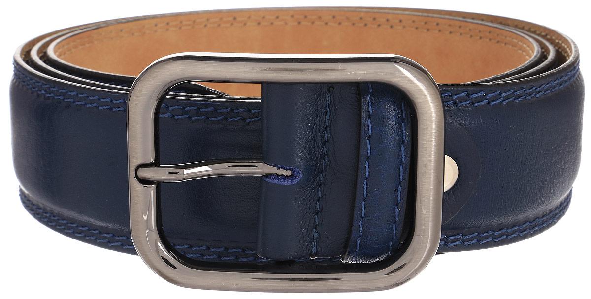 Ремень мужской Milana, цвет: синий. 2351-4150-0000. Размер 1302351-4150-0000Мужской ремень Milana изготовлен из натуральной кожи. Прямоугольная пряжка выполнена из металла, она позволит легко и быстро зафиксировать ремень и отрегулировать его длину. Элегантный и строгий ремень превосходно сочетается с любыми нарядами. Уважаемые клиенты! Обращаем ваше внимание на тот факт, что размер ремня, доступный для заказа, является его длиной.