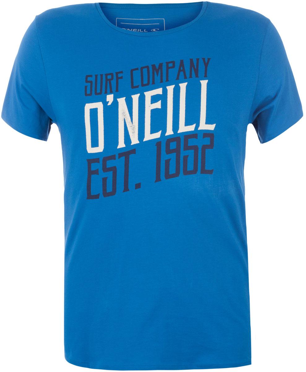 Футболка мужская ONeill Lm Script T-Shirt, цвет: голубой. 7A3658-5124. Размер XL (52/54)7A3658-5124Футболка мужская ONeill выполнена из 100% хлопка. Модель имеет стандартный крой, короткий рукав и круглый вырез горловины. Футболка дополнена надписями.