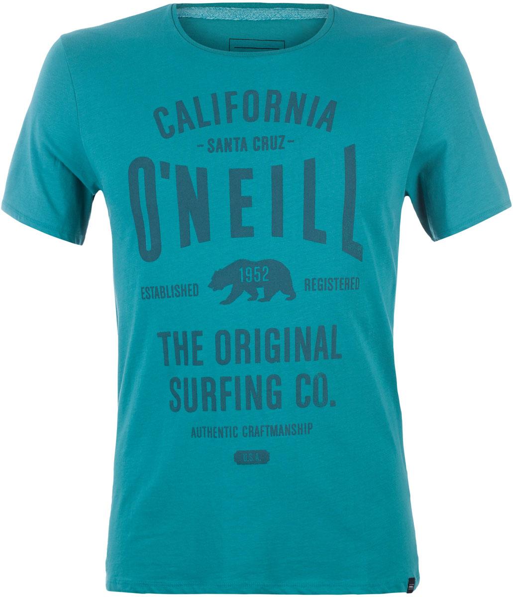 Футболка мужская ONeill Lm Muir T-Shirt, цвет: зеленый. 7A3657-6107. Размер XXL (54/56)7A3657-6107Футболка мужская ONeill выполнена из 100% хлопка. Модель имеет стандартный крой, короткий рукав и круглый вырез горловины. Футболка дополнена надписями.