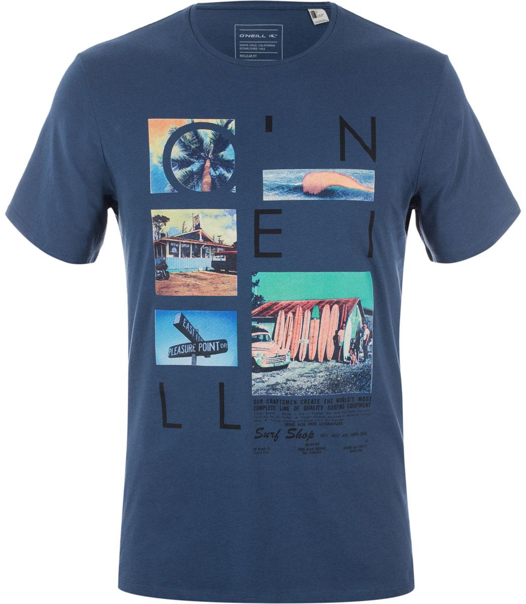 Футболка мужская ONeill Lm Neos T-Shirt, цвет: синий. 7A3670-5045. Размер XL (52/54)7A3670-5045Футболка мужская ONeill выполнена из 100% хлопка. Модель имеет стандартный крой, короткий рукав и круглый вырез горловины. Футболка дополнена красочной фотопечатью.