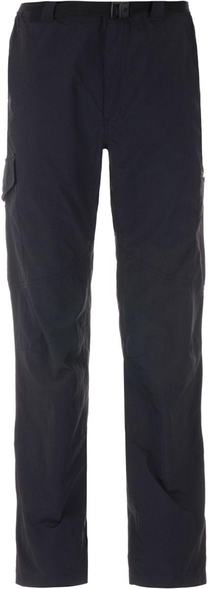 Брюки спортивные мужские Columbia Silver Ridge, цвет: черный. 1441681-010. Размер 32 (48)1441681-010Мужские брюки Columbia Silver Ridge, выполненные из быстросохнущего нейлона, станут оптимальным выбором для походов и активного отдыха на природе. Технология Omni-Shade UPF 50 гарантирует высокий уровень защиты от UV-излучения. Ткань, выполненная по технологии Omni-Wick, эффективно отводит влагу от кожи. Легкий материал обеспечивает превосходный воздухообмен. Модель прямого кроя дополнена внешним регулируемым поясом. На брюках предусмотрено 6 функциональных карманов.