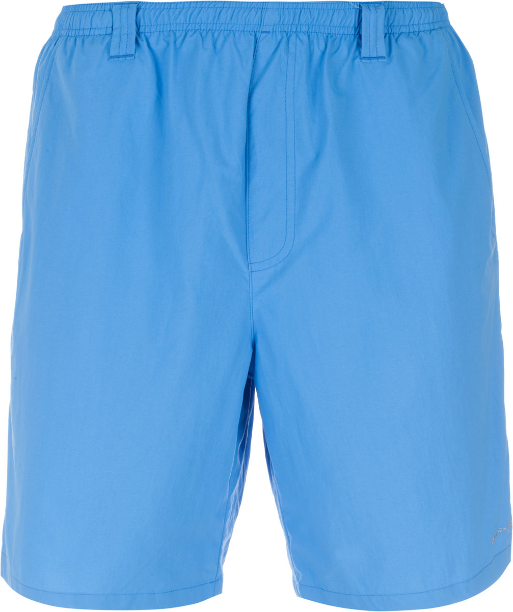 Шорты для плавания мужские Columbia Backcast III, цвет: синий. 1535781-475. Размер S (44/46)1535781-475Мужские шорты для плавания Columbia Backcast III станут отличным дополнением к вашему спортивному гардеробу. Они выполнены из нейлона и имеют подкладку из полиэстера, благодаря чему удобно сидят, обладают высокой износостойкостью, быстро сохнут и превосходно отводят влагу от тела, оставляя кожу сухой. Шорты изготовлены по специальной технологии Omni-Shade, благодаря чему защищают от вредного солнечного излучения (степень защиты UPF 50).Модель дополнена широкой эластичной резинкой на поясе. Объем талии регулируется при помощи шнурка-кулиски в поясе. Шорты дополнены двумя втачными карманами спереди, одним втачным карманом на молнии сзади и одним накладными карманом сбоку. Изделие оснащено сетчатой несъемной вставкой в виде трусов-слипов, на поясе расположены шлевки для ремня.Эти модные свободные шорты идеально подойдут для плавания и купания в бассейне, а также для солнечных ванн на пляже. В них вы всегда будете чувствовать себя уверенно и комфортно.