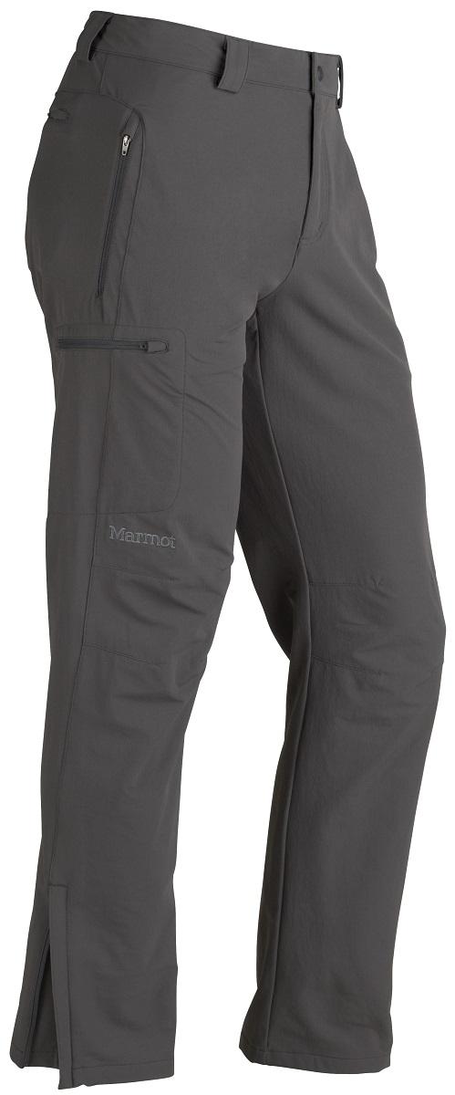 Брюки спортивные мужские Marmot Scree Pant, цвет: серый. 80950-1440. Размер XL(52/54)80950-1440Универсальные брюки на каждый день и для поездок, путешествий, беговых лыж. Эластичные, прочные, дышащие. Влагостойкая и воздухопроницаемая ткань– идеальна для высокоаэробной активности, карманы для рук на молниях, задний карман на молнии для удобства хранения мелочей, регулируемый эластичный пояс.