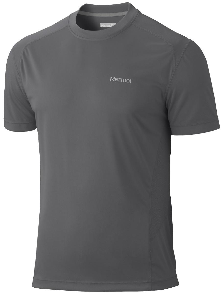 Футболка мужская Marmot Windridge SS, цвет: серый. 60390-1440. Размер XXL (54/56)