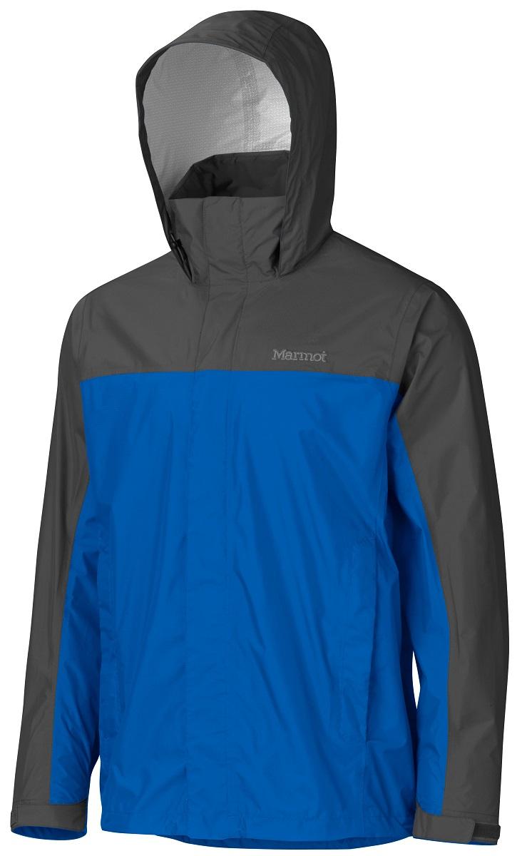 Дождевик мужской Marmot PreCip Jacket, цвет: синий, серый. 41200-2900. Размер L(50/52)41200-2900Дождевик PreCip Jacket - станет Вашей надежной защитой в любую непогоду, где бы Вы не находились: вдали от цивилизации или в городских условиях. Легкий функциональный дождевик на межсезонье. Незаменимая вещь весной, летом и ранней осенью. Технология PreCip™ Dry Touch - водостойкий, дышащий материал, 100% водонепроницаемые швы. Легко упаковывается в собственный карман. Особенности: Технология PreCip™ Dry Touch - водостойкий, дышащий материал, 100% водонепроницаемые швы, капюшон имеет возможность хорошего обзора и при необходимости убирается в воротник|PitZips™ - двусторонние молнии в районе подмышек обеспечивают отличную вентиляцию Pack Pockets™ - полувертикальные нагрудные карманы, которыми удобно пользоваться даже с рюкзаком на спине, двойная штормовая планка на передней молнии с застежкой-липучкой Velcro.