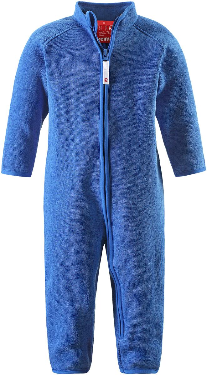 Комбинезон флисовый детский Reima Tahti, цвет: синий. 5162896530. Размер 685162896530Флисовый комбинезон для малышей сверху имеет вязаную структуру, а с изнаночной стороны пушистую флисовую поверхность. Модель сшита из теплого и дышащего материала, зимой она будет самой удобной одеждой промежуточного слоя, а в теплое время года послужит отличной верхней одеждой. Молния во всю длину поможет вам легко одеть вашего ребенка в этот теплый и удобный флисовый комбинезон.