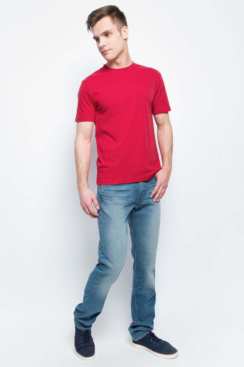 Футболка мужская StarkСotton, цвет: красный. 3214. Размер L (50/52)3214Мужская футболка StarkСotton выполнена из натурального хлопка. Модель с круглым вырезом горловины и короткими рукавами удобна для повседневной носки, а также подходит для занятий спортом.