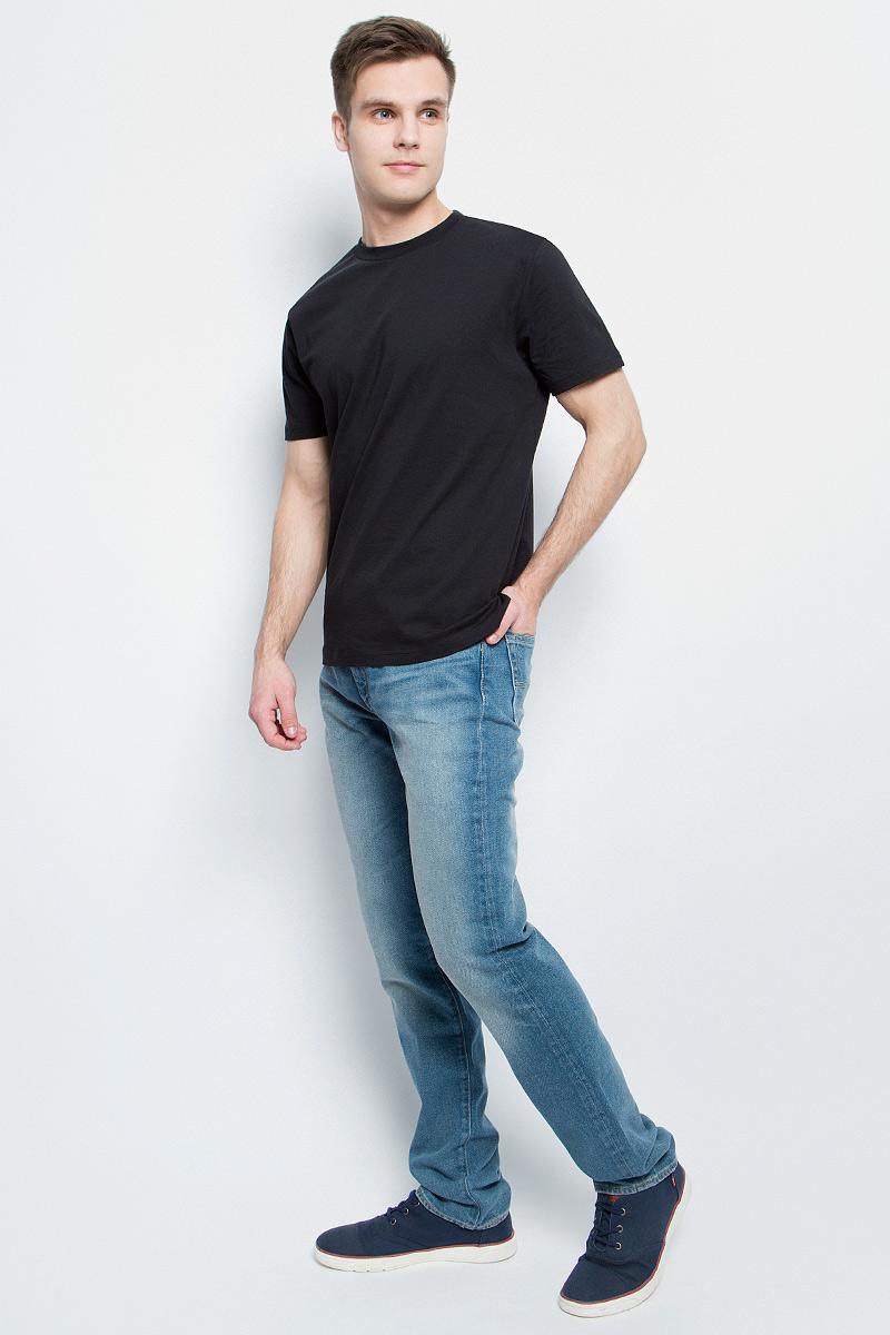 Футболка мужская StarkСotton, цвет: черный. 1210. Размер XL (52/54)1210Мужская футболка StarkСotton выполнена из натурального хлопка. Модель с круглым вырезом горловины и короткими рукавами удобна для повседневной носки, а также подходит для занятий спортом.