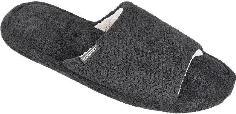Тапки мужские Isotoner, цвет: черный. 96657. Размер 10 (43)96657Мужские тапки от Isotoner выполненные из текстиля, помогут отдохнуть вашим ногам после трудового дня.Эластичная резиновая подошва полностью повторяет изгиб стопы при движении.