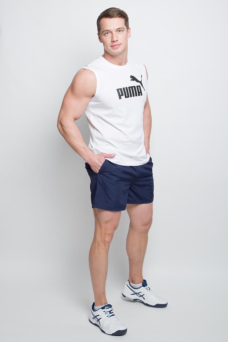 Шорты мужские Puma Style Summer Shorts, цвет: синий. 59066306. Размер M (46/48)59066306Мужские шорты Style Summer Shorts выполнены из 100% полиэстера. Эластичный пояс с затягивающимся шнурком гарантирует комфортную посадку. Удобные боковые карманы позволяют взять необходимые мелочи с собой. Помимо карманов в боковых швах имеется также внутренний карман для мелочи и прорезной карман с обтачками сзади. Модель отлично смотрится на фигуре, дарит комфорт и свободу движений. Шорты декорированы логотипом PUMA на левой штанине. Имеют стандартную посадку.