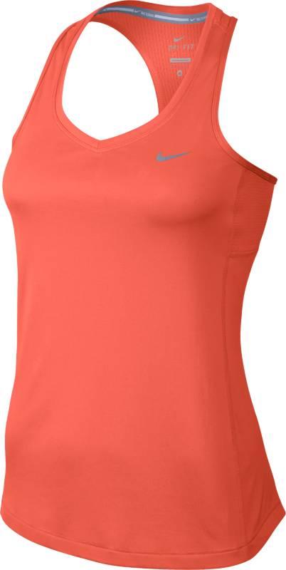 Майка для фитнеса женская Nike Miler Tank, цвет: оранжевый. 686880-842. Размер M (44/46)686880-842Женская майка для фитнеса Miler Tank от Nike выполнена из полиэстера. Ткань Dri-FIT отводит влагу, обеспечивая быстрое высыхание во время бега.Т-образная спина не сковывает движений во время длительных пробежек.Сетка в верхней части спины обеспечивает дополнительный воздухообмен. Плоские швы не натирают кожу.