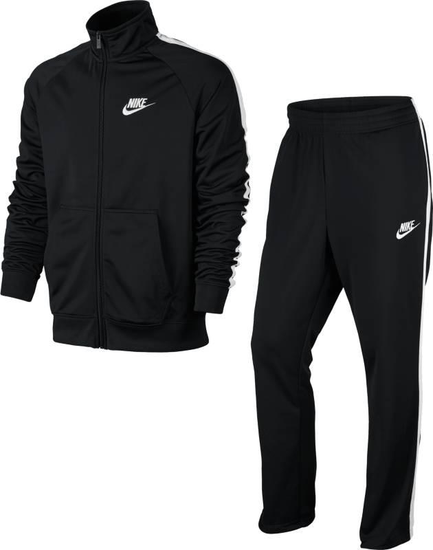 Спортивный костюм мужской Nike Nstrk Suit Pk Season, цвет: черный. 840643-010. Размер XS (42/44)840643-010Мужской спортивный костюм Nstrk Suit Pk Season от Nike, состоящий из куртки и брюк, станет отличным дополнением к вашему гардеробу. Изготовленный из полиэстера, он легкий, приятный на ощупь, не сковывает движения и хорошо вентилируется. Куртка с воротником-стойкой и длинными рукавами застегивается на застежку-молнию. Спереди расположены два накладных кармана.Брюки на поясе имеют широкую эластичную резинку и дополнены двумя карманами.