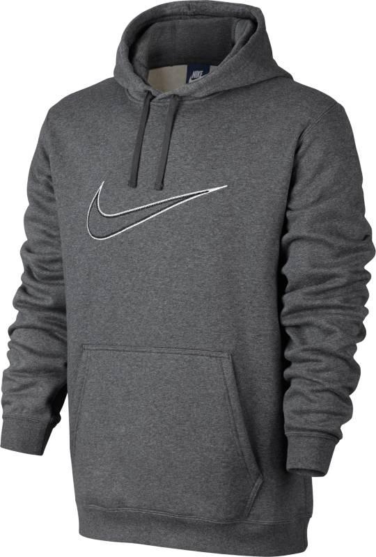 Толстовка мужская Nike NsHoodie Flc Gx Swsh+, цвет: серый. 804656-073. Размер XXL (54/56)804656-073Мужская толстовка NsHoodie Flc Gx Swsh+ от Nike выполнена из хлопка с добавлением полиэстера. Модель с капюшоном и длинными рукавами дополнена спереди карманом-кенгуру.