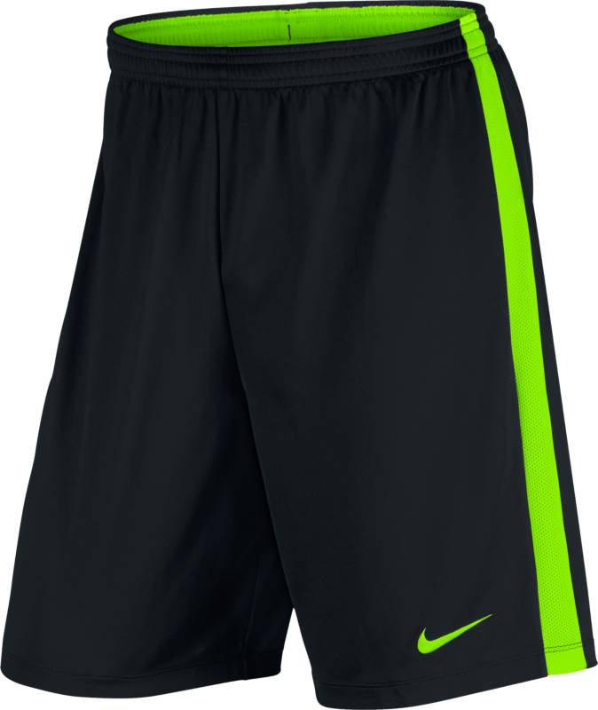Шорты мужские Nike Nk Dry Short Acdmy K, цвет: черный, салатовый. 832508-013. Размер S (44/46)832508-013Мужские шорты Nk Dry Short Acdmy K от Nike выполнены из легкого текстиля и дополнены перфорацией по бокам. Технология Dry-Fit выводит лишнюю влагу наружу и оставляет кожу сухой. Эластичный пояс со шнурком для идеальной посадки.
