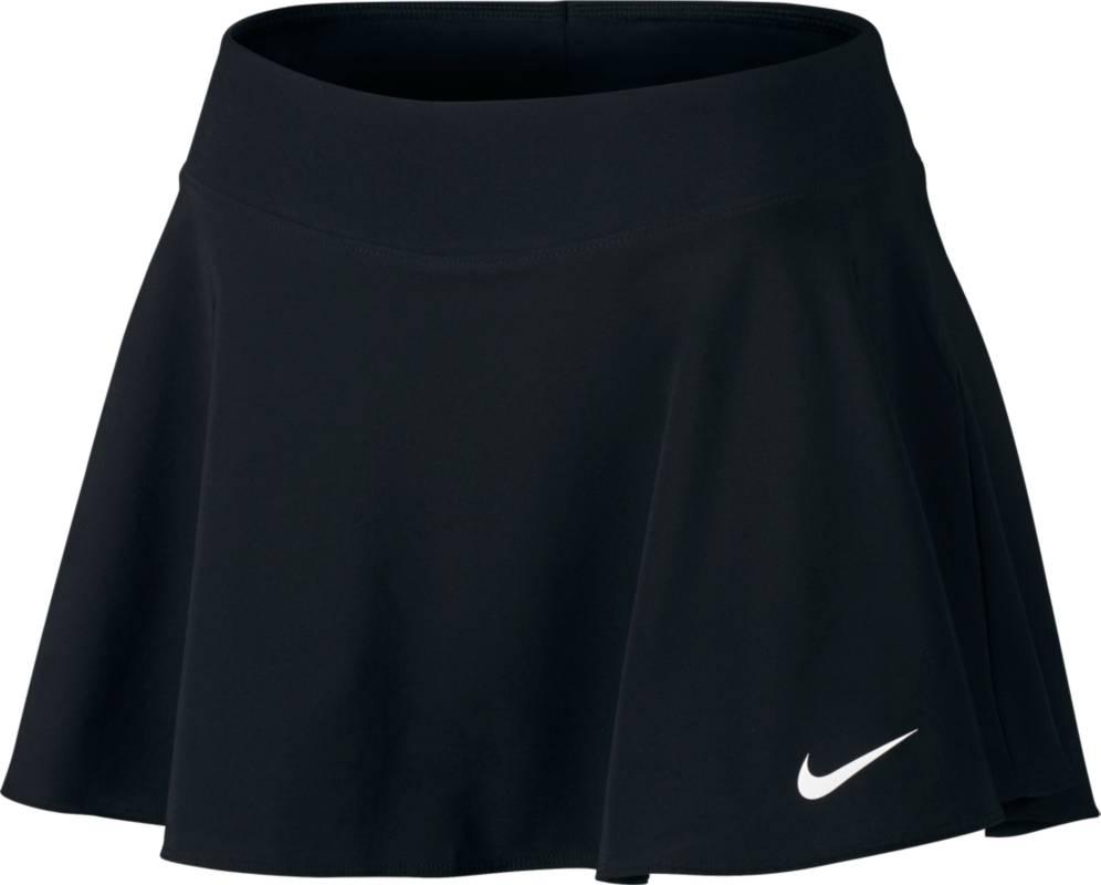 Юбка для тенниса Nike Nkct Flx Pure Skirt Flouncy, цвет: черный. 830616-010. Размер XS (40/42)830616-010Теннисная юбка Nkct Flx Pure Skirt Flouncy от Nike выполнена из эластичного полиэстера. Технология Dri-FIT отводит влагу и обеспечивает комфорт. Эластичный пояс обеспечивает надежную посадку, а внутренние шорты гарантируют легкую поддержку.