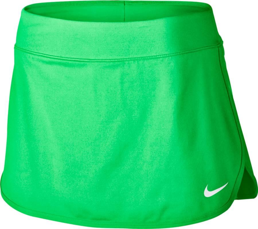 Юбка для тенниса Nike Pure Skirt, цвет: зеленый. 728777-300. Размер M (44/46)728777-300Теннисная юбка Pure Skirt от Nike выполнена из эластичного полиэстера, который обеспечивает комфортную посадку. Ткань Nike Dry с технологией Dri-FIT отводит влагу с кожи на поверхность изделия, где она быстро испаряется. Модель оснащена эластичным поясом и внутренними шортами.