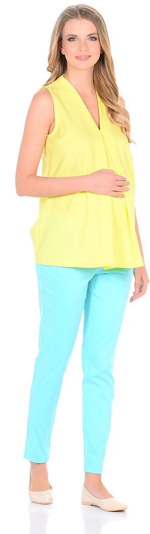 Блузка для беременных Mammy Size, цвет: желтый. 103338. Размер 42103338Элегантная блузкаженственного силуэта. Тонкая ткань мягко струится по фигуре. Блузка прекрасно сочетается как с брюками, так и с юбками.