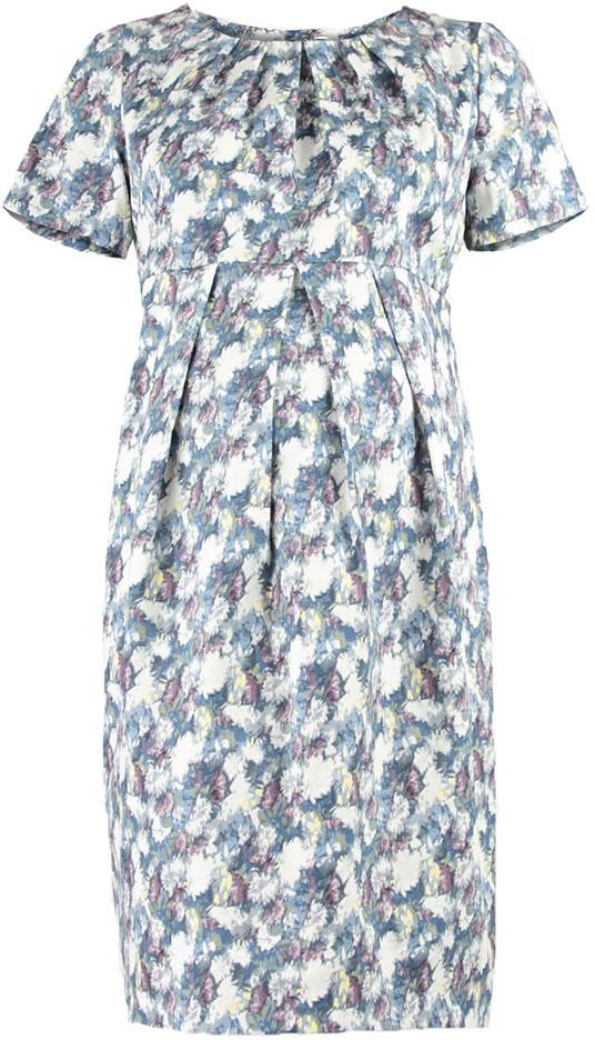 Платье для беременных Mammy Size, цвет: голубой. 5122512171. Размер 425122512171Платье для беременных Mammy Size выполнено из хлопка и эластана. Модель с круглым вырезом горловины и короткими рукавами.