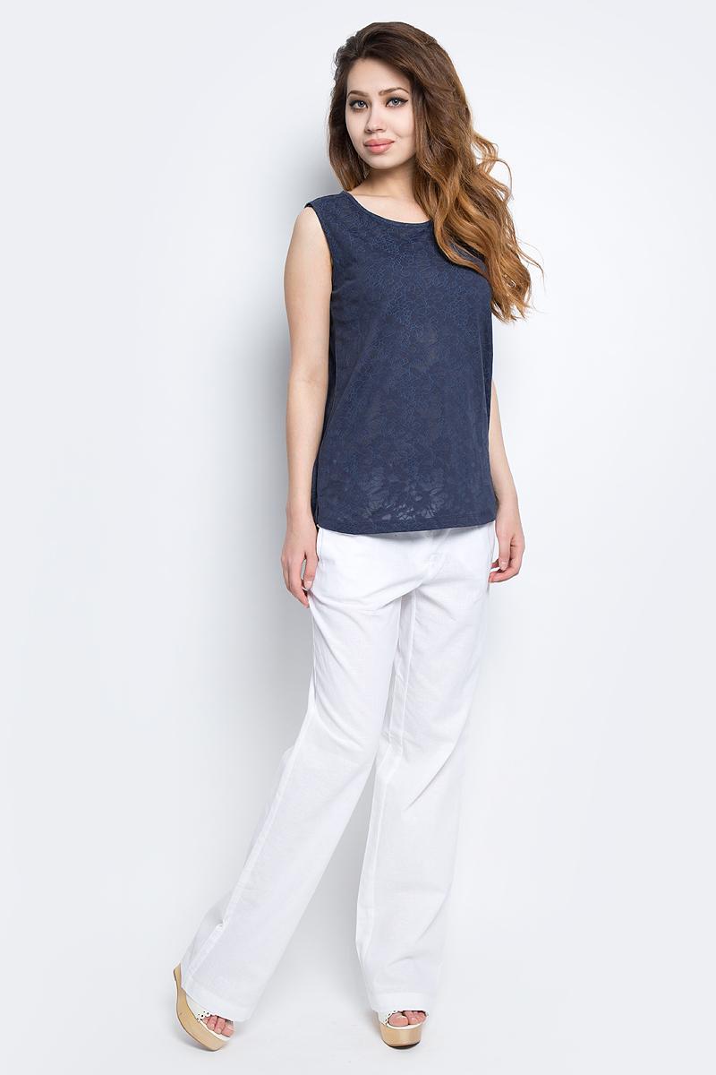 Майка женская Baon, цвет: темно-синий. B257001_Navy. Размер M (46)B257001_NavyМайка женская Baon выполнена из полиэстера и хлопка. Изделие с круглым вырезом горловины. Эта модель отлично дополнит ваш повседневный гардероб и легко станет основой летнего образа.