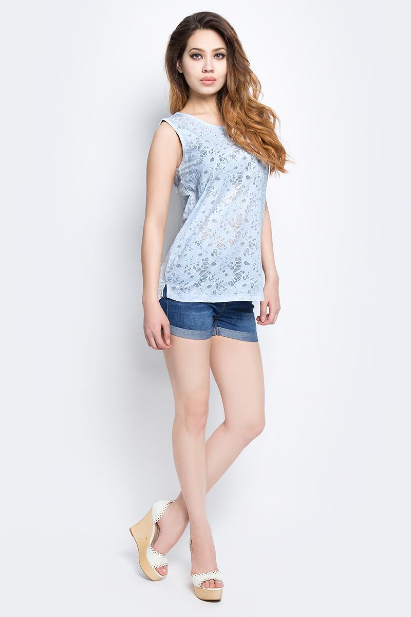 Майка женская Baon, цвет: голубой. B257001_Myosotis. Размер L (48)B257001_MyosotisМайка женская Baon выполнена из полиэстера и хлопка. Изделие с круглым вырезом горловины. Эта модель отлично дополнит ваш повседневный гардероб и легко станет основой летнего образа.