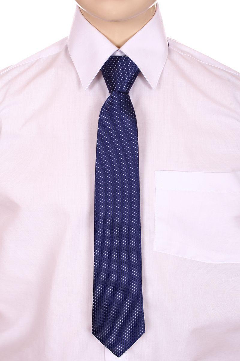 Галстук для мальчика Brostem, цвет: деним, белый. RKCAL11-11. Размер универсальныйRKCAL11-11Модный галстук для мальчика Brostem изготовлен из качественного полиэстера. Такой аксессуар придаст юному кавалеру солидности.