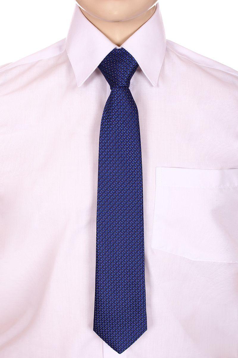 Галстук для мальчика Brostem, цвет: синий, белый. RKCAL09-9. Размер универсальныйRKCAL09-9Модный галстук для мальчика Brostem изготовлен из качественного полиэстера. Такой аксессуар придаст юному кавалеру солидности.