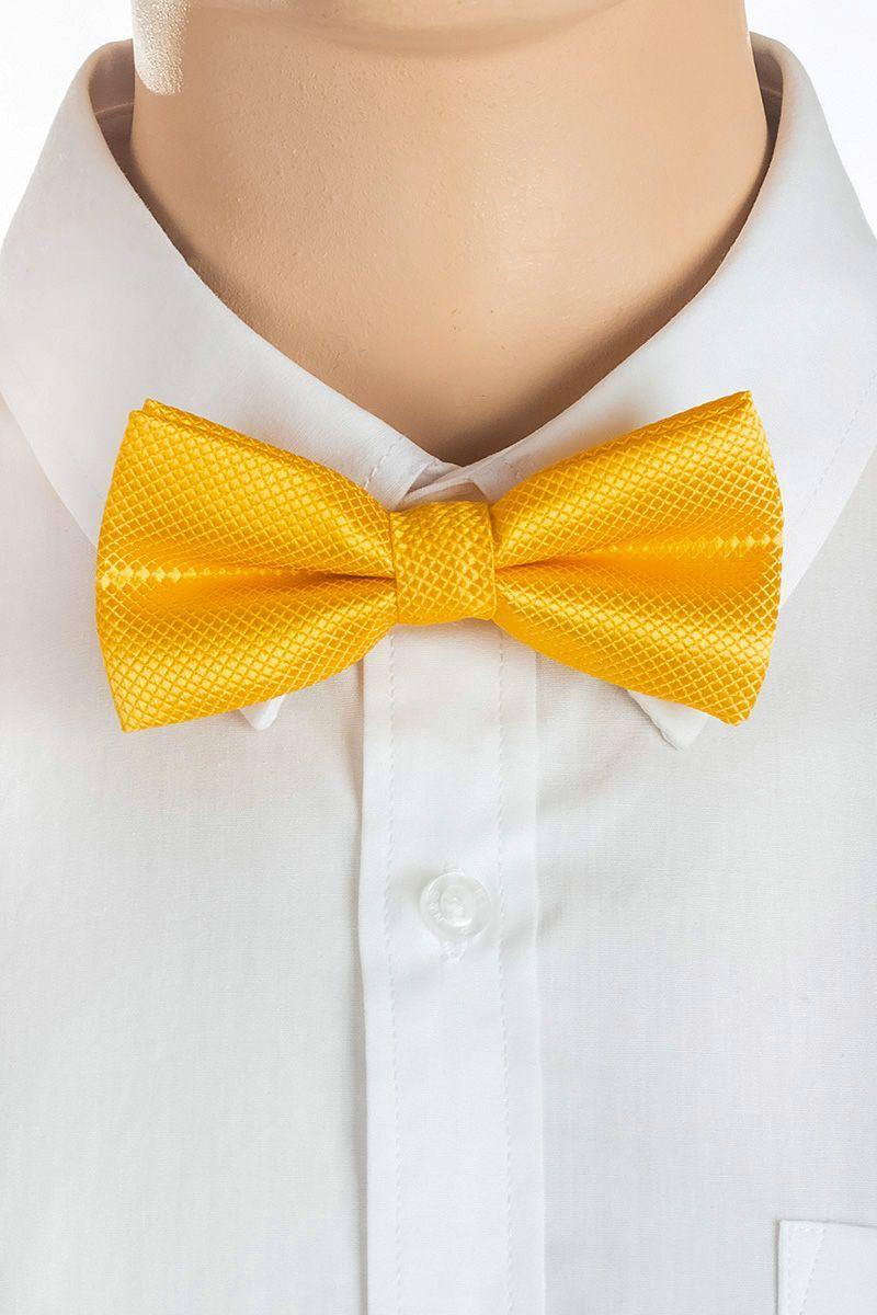 Галстук-бабочка для мальчика Brostem, цвет: желтый. RBAB02-2. Размер универсальныйRBAB02-2Модный галстук-бабочка для мальчика Brostem изготовлен из качественного полиэстера. Такой аксессуар придаст юному кавалеру солидности.