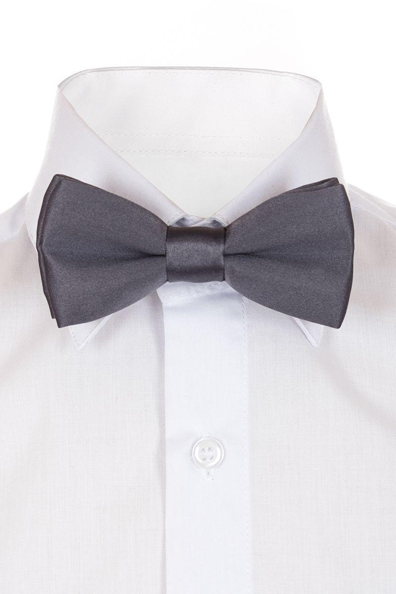 Галстук-бабочка для мальчика Brostem, цвет: серый. BAB20-20. Размер универсальныйBAB20-20Модный галстук-бабочка для мальчика Brostem изготовлен из качественного полиэстера. Такой аксессуар придаст юному кавалеру солидности.