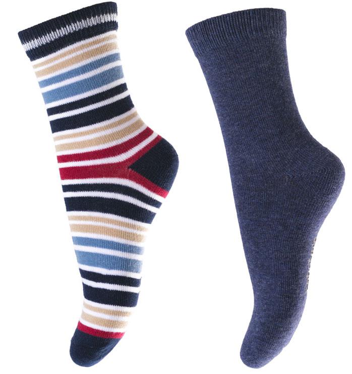Носки для мальчика PlayToday, цвет: синий, белый, красный, 2 пары. 171032. Размер 14171032Носки для мальчика PlayToday, изготовленные из высококачественного материала, идеально подойдут вашему малышу. Эластичная резинка плотно облегает ножку ребенка, не сдавливая ее, благодаря чему малышу будет комфортно и удобно. Усиленная пятка и мысок обеспечивают надежность и долговечность.
