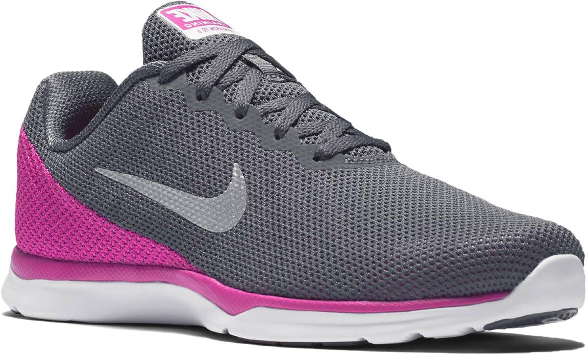 Кроссовки для бега женские Nike In-Season Tr 6, цвет: серый, розовый. 852449-003. Размер 9 (40,5)852449-003Женские кроссовки In-Season Tr 6 от Nike выполнены из сетчатого текстиля, который обеспечивает естественную вентиляцию. Подкладка из текстиля комфортна при движении. Стельками из пеноматериала с текстильной поверхностью и с эффектом памяти для невероятного комфорта. Шнуровка надежно зафиксирует модель на ноге. Подошва дополнена рифлением.