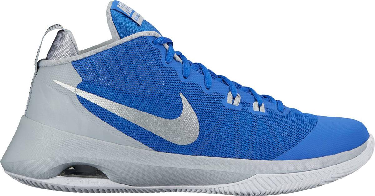 Кроссовки для баскетбола мужские Nike Air Versitile, цвет: синий, серый. 852431-400. Размер 12 (46,5)852431-400Кроссовки для баскетбола Air Versitile от Nike выполнены из легкого дышащего текстиля с поддерживающими полимерным накладками. Шнуровка надежно зафиксируют модель на ноге. Текстильная подкладка и стелька Solarsoft комфортны при движении. Воздушная подушка Max Air обеспечивает защиту от ударных нагрузок. Износостойкая подошва из материала Phylon для амортизации и надежного сцепления с поверхностью.