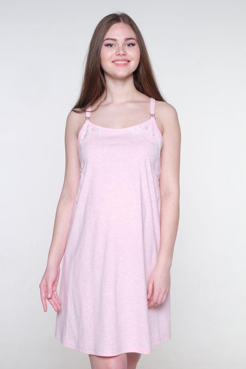 Ночная сорочка для беременных и кормящих Hunny Mammy, цвет: светло-розовый. 1-НМП 20101. Размер 501-НМП 20101Великолепная сорочка Hunny Mammy выполнена из хлопкового материала. Отстегивающиеся бретели обеспечат удобство во время кормления малыша. Практичная модель позволит беременной женщине или кормящей маме чувствовать себя комфортно в любой ситуации.