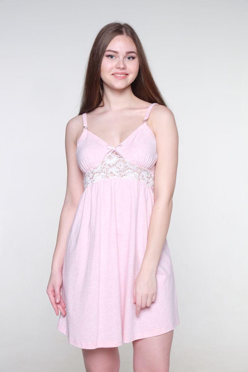 Ночная сорочка для беременных и кормящих Hunny Mammy, цвет: светло-розовый. 1-НМП 13501. Размер 461-НМП 13501Ночная сорочка Hunny Mammy изготовлена из натурального хлопка. Легкая очаровательная модель на бретелях будет удобна беременным и кормящим мамочкам благодаря застежкам-клипсам. Украшает сорочку кружевная вставка под грудью.