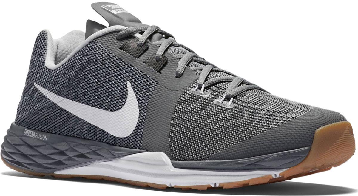 Кроссовки для бега мужские Nike Train Prime Iron Dual Fusion, цвет: серый. 832219-010. Размер 11,5 (46)832219-010Модные мужские кроссовки Train Prime Iron Dual Fusion от Nike выполнены из текстиля. Подкладка из текстиля обеспечивает комфорт. Шнуровка надежно зафиксирует модель на ноге. Технология Dualfusion, используемая в промежуточной подошве, объединяет материал EVA двух разных плотностей, что обеспечивает превосходную амортизацию и поддержу. Стелька из специального материала Phylon для мягкой амортизации, легкости и поддержки. Резиновая подошва с протектором для износостойкости и надежного сцепления с поверхностью.