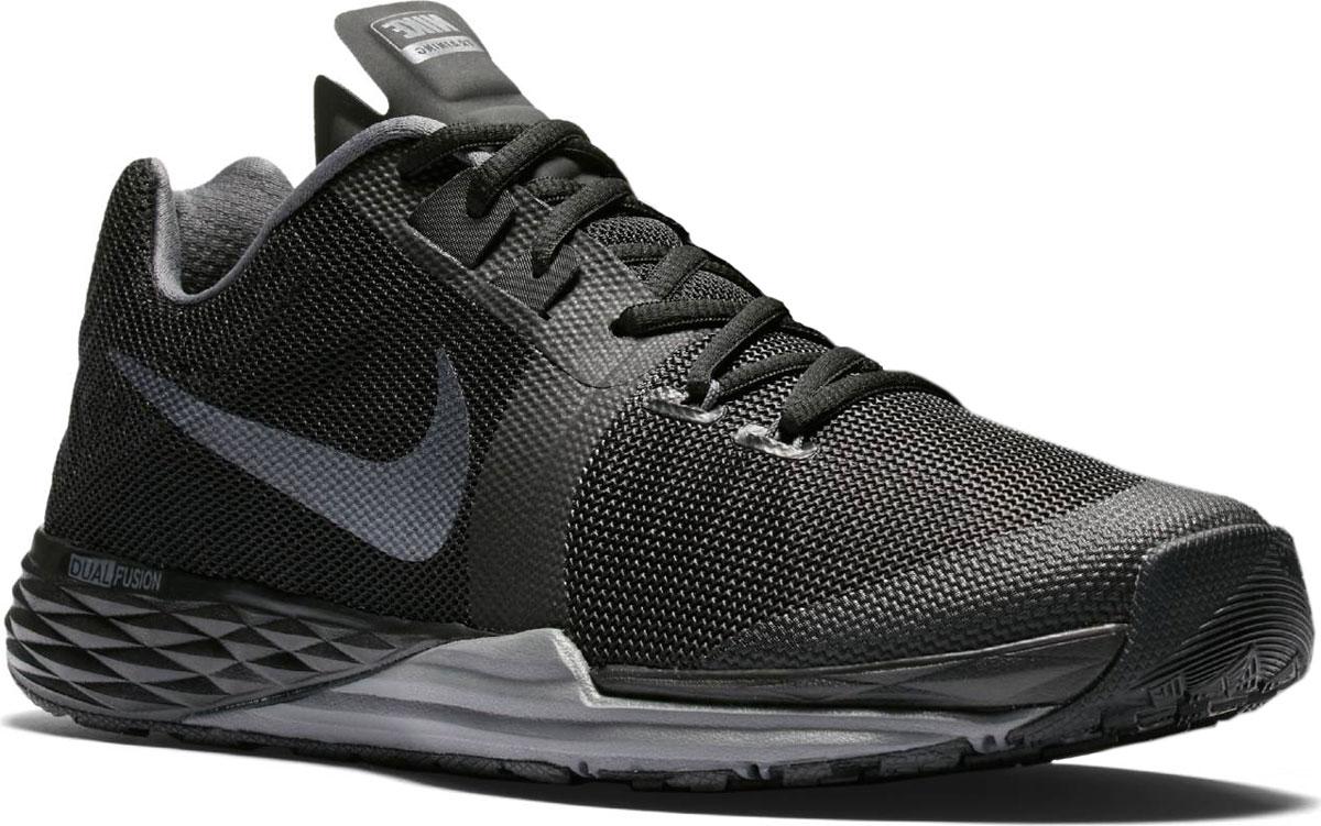Кроссовки для бега мужские Nike Train Prime Iron Dual Fusion, цвет: черный. 832219-007. Размер 11 (45)832219-007Модные мужские кроссовки Train Prime Iron Dual Fusion от Nike выполнены из текстиля. Подкладка из текстиля обеспечивает комфорт. Шнуровка надежно зафиксирует модель на ноге. Технология Dualfusion, используемая в промежуточной подошве, объединяет материал EVA двух разных плотностей, что обеспечивает превосходную амортизацию и поддержу. Стелька из специального материала Phylon для мягкой амортизации, легкости и поддержки. Резиновая подошва с протектором для износостойкости и надежного сцепления с поверхностью.