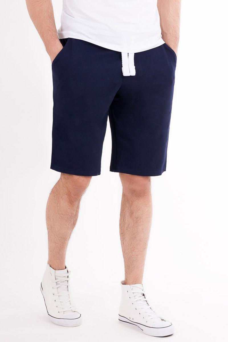 Шорты мужские Mark Formelle, цвет: темно-синий. 16-155-7_10917. Размер 5616-155-7_10917Мужские шорты Mark Formelle выполнены из трикотажного полотна футер и рибаны. Широкий и эластичный пояс оснащен затягивающимся шнурком. По бокам расположены внутренние карманы на подкладке. Модель свободного кроя, длина - выше колен. Такие шорты отлично подойдут для спорта и отдыха.
