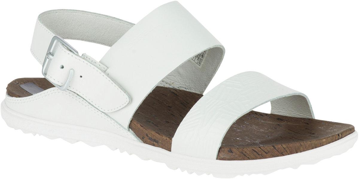 Сандалии женские Merrell Around Town Backstrap Print, цвет: белый. J03712. Размер 8 (39)J03712Кожаные сандалии Around Town Backstrap от Merrell - это обувь, в которой не жарко летом. Подкладка из натуральной кожи с антибактериальной пропиткой M Select Fresh препятствует возникновению специфического запаха и обеспечивает оптимальный микроклимат внутри обуви. Промежуточная подошва, формованная под давлением из EVA, с технологией M Select Move обеспечивает комфорт стопы во время ходьбы, нейлоновый супинатор поддерживает свод стопы и защищает ее от ударов. Износостойкая подошва M Select Grip создает устойчивость на любой поверхности. На ноге модель фиксируется при помощи металлической пряжки.