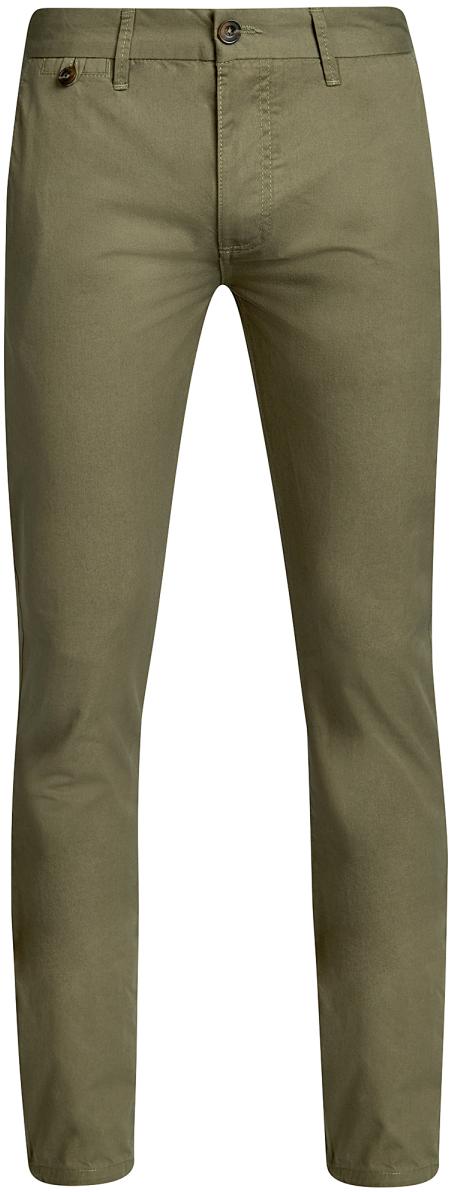 Брюки мужские oodji Basic, цвет: светло-серый. 2B150023M/44264N/2000N. Размер 40-182 (48-182)2B150023M/44264N/2000NМужские брюки oodji Basic выполнены из высококачественного материала. Модель-чинос стандартной посадки застегивается на пуговицу в поясе и ширинку на застежке-молнии. Пояс имеет шлевки для ремня. Спереди брюки дополнены втачными карманами, сзади - прорезными на пуговицах.