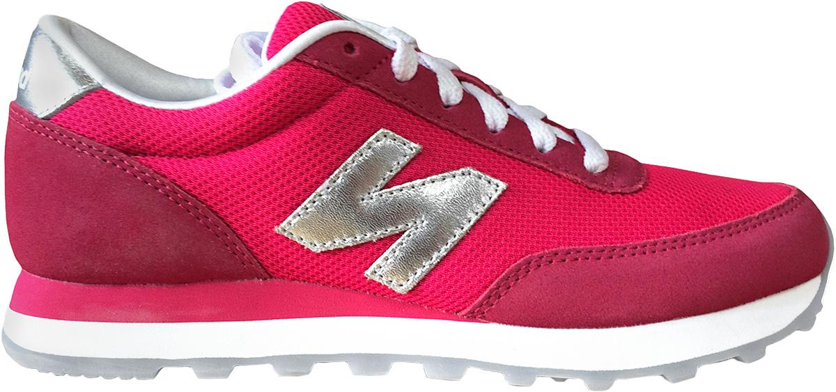 Кроссовки женские New Balance 501, цвет: розовый. WL501NWC/B. Размер 6,5 (37)WL501NWC/BСтильные женские кроссовки от New Balance 501 станут отличным выбором для людей, которые всегда стремятся быть в тренде. Верх модели выполнен из натуральной замши со вставками из текстиля. По бокам обувь оформлена декоративными элементами в виде фирменного логотипа бренда, на язычке - фирменной нашивкой. Классическая шнуровка надежно зафиксирует изделие на ноге. Подкладка и стелька, изготовленные из текстиля, гарантируют уют и предотвращают натирание. Удобные кроссовки займут достойное место среди коллекции вашей обуви.