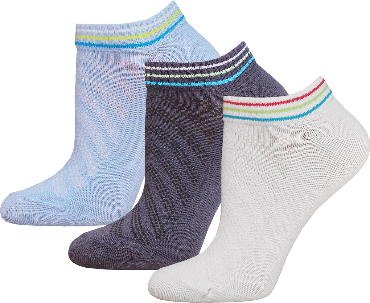 Носки женские Брестские Active, цвет: белый, голубой, темно-серый, 3 пары. 14C1300-026. Размер 2514C1300-026Женские носки Брестские изготовлены из хлопка с добавлением полиэстера и эластана. Укороченная модель имеет мягкую комфортную резинку.