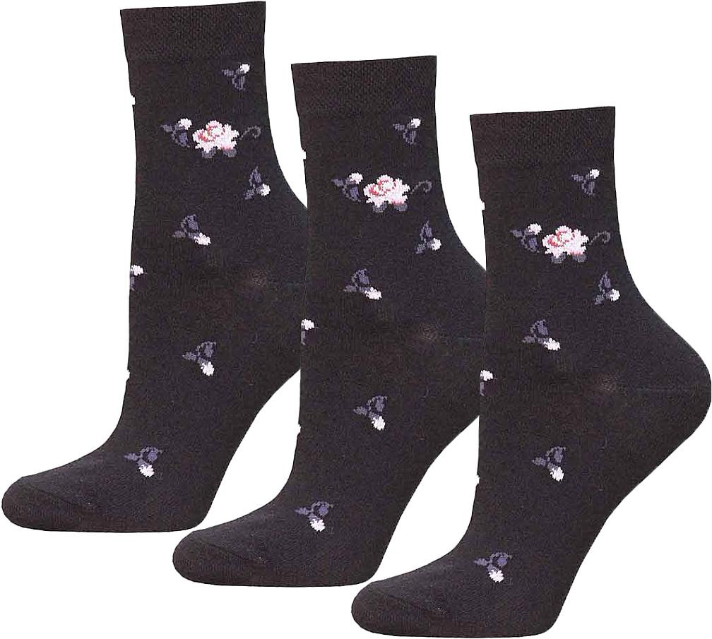 Носки женские Брестские Classic, цвет: черный, 3 пары. 14С1100-013. Размер 2514С1100-013Женские носки Брестские Classic изготовлены из хлопка с добавлением полиэстера и эластана. Модель средней длины имеет мягкую комфортную резинку.