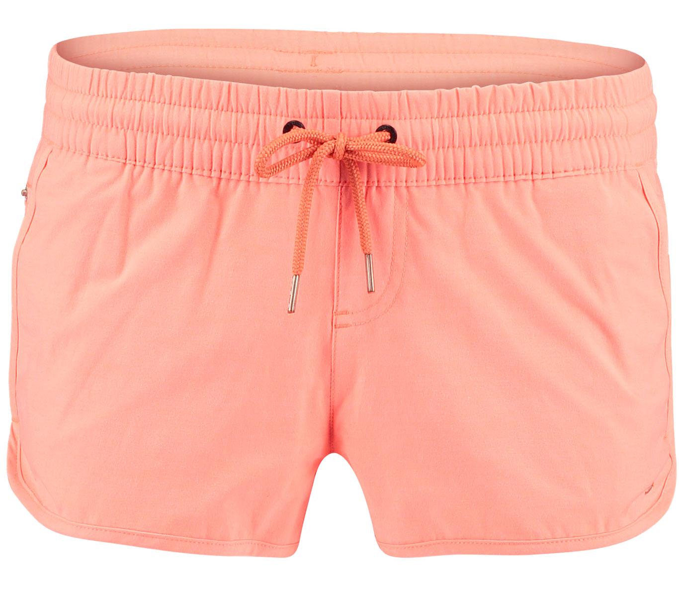 Шорты пляжные женские ONeill Pw Essential Boardshorts, цвет: оранжевый. 7A8132-4059. Размер XS (42/44)7A8132-4059Женские пляжные шорты ONeill выполнены из хлопка с добавлением полиэстера и эластана. Ткань пропускает воздух и быстро сохнет. Пояс снабжен эластичной резинкой с затягивающимся шнурком для комфортной посадки. Спереди расположены два прорезных кармана.
