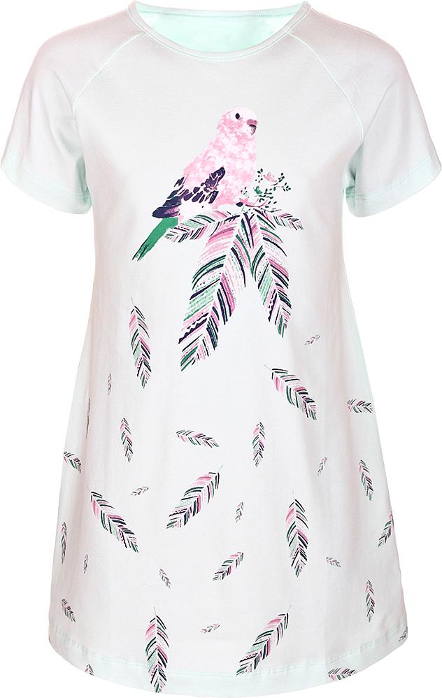 Ночная рубашка для девочки Baykar, цвет: зеленый, мультиколор. N9323240A-13. Размер 98/104N9323240A-13Ночная рубашка для девочки Baykar подарит не только комфорт и уют, но и понравится ребенку благодаря своему веселому и приятному дизайну. Изготовленная из мягкого хлопка, она тактильно приятна, хорошо пропускает воздух, а благодаря свободному крою не стесняет движений во сне.