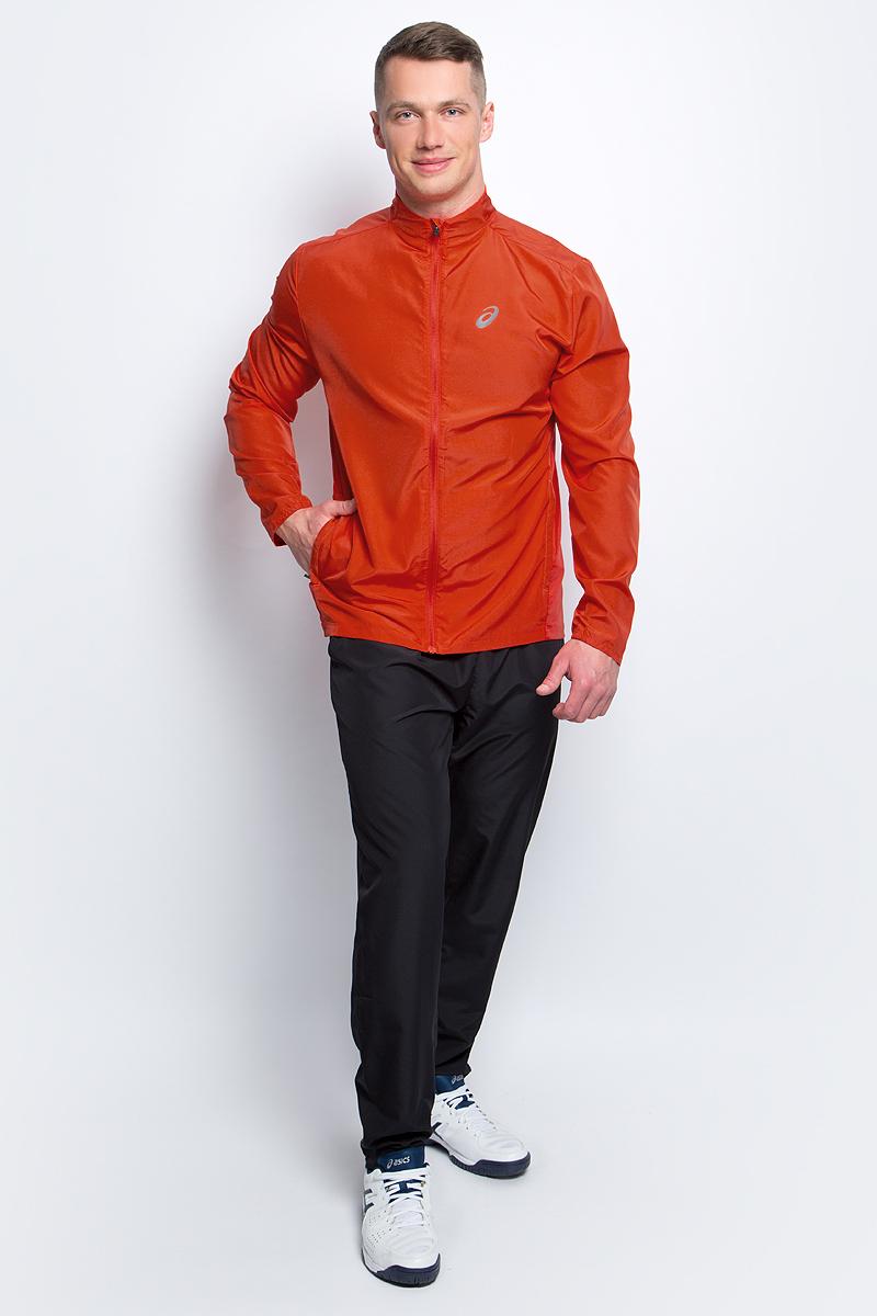 Ветровка для бега мужская Asics Jacket, цвет: ярко-оранжевый. 134091-0626. Размер L (50/52)134091-0626Стильная мужская ветровка для бега Asics Jacket с воротником-стойкой застегивается назастежку-молнию, дополненную защитой подбородка. Изделие защитит вас от ветра и поможетсконцентрироваться на тренировке. На спинке эластичная ткань обеспечивает свободу движений во время тренировки ипревосходную терморегуляцию и воздухообмен. По бокам распложены прорезные карманы назастежках-молниях. Светоотражающие элементы не оставят вас незамеченными в темное времясуток.В этой ветровке вы будете чувствовать себя уверенно и комфортно.
