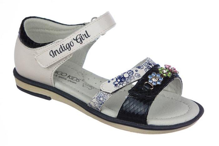 Сандалии для девочки Indigo Kids, цвет: синий. 21-258A/12. Размер 2721-258A/12Модные сандалии от Indigo Kids очень удобны и невероятно легки, они придутся по душе вашей девочке и идеально подойдут для повседневной носки в летнюю погоду! Модель выполнена из натуральной и искусственной кожи, оформлена ремешками с застежкой на липучке, позволяющими регулировать обхват по размеру. Каждое движение в этой обуви приносит радость и удовольствие.