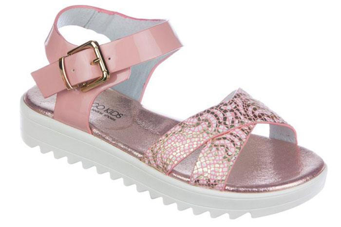 Сандалии для девочки Indigo Kids, цвет: розовый. 21-310A/12. Размер 3421-310A/12Модные сандалии от Indigo Kids очень удобны и невероятно легки, они придутся по душе вашей девочке и идеально подойдут для повседневной носки в летнюю погоду! Модель выполнена из натуральной и искусственной кожи, оформлена ремешком с застежкой на пряжке, позволяющей регулировать обхват по размеру. Подошва с рифлением гарантирует отличное сцепление с любой поверхностью.Каждое движение в этой обуви приносит радость и удовольствие.