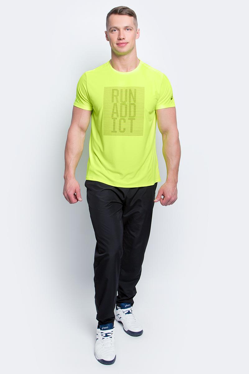 Футболка для бега мужская Asics Graphic SS Top, цвет: неоново-желтый. 134085-0392. Размер S (46/48)134085-0392Мужская футболка для бега Asics Graphic SS Top, выполненная извысококачественного полиэстера с применениемтехнологии Motion Dry, обладает высокой воздухопроницаемостью, а также превосходноотводит влагу от тела, оставляя кожу сухой даже во время интенсивных тренировок. Такаяфутболка великолепно подойдет как для повседневной носки, так и для спортивных занятий.Комфортные плоские швы исключают риск натирания и раздражения. Модель с короткими рукавами и круглым вырезом горловины - идеальный вариант длясоздания модного спортивного образа. Футболка оригинальной надписью нагруди.